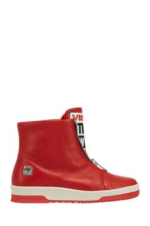Кожаные кеды Vision 8 Red Swear