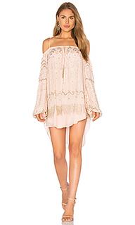 Украшенное платье с открытыми плечами - Tessora