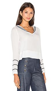 Шелковая блуза с морским воротом - Tommy Hilfiger