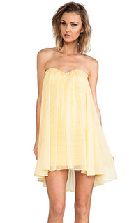 Платье-мини без бретелек - BLAQUE LABEL