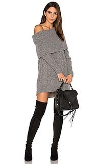 Свободное платье-туника с рельефной вязкой - KENDALL + KYLIE
