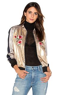 Куртка-бомбер с вышивкой - Frankie