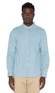 Джинсовая рубашка с застёжкой на пуговицу - Stussy