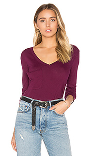 Light weight jersey front pocket long sleeve top - Bobi
