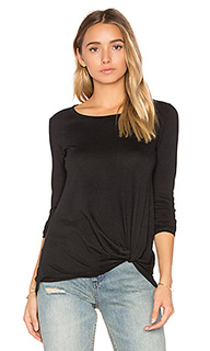 Light weight jersey twist front long sleeve tee - Bobi