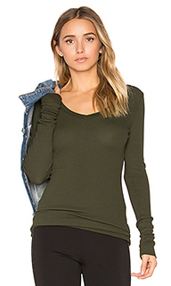 Modal thermal v neck long sleeve top - Bobi