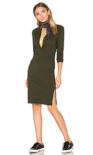 Long sleeve button front dress - Bobi