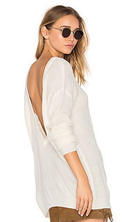 Cashmere v back sweater - Bobi