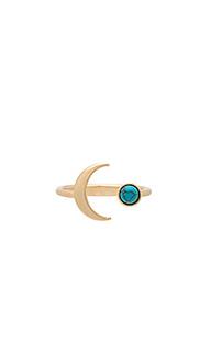 Crescent gem ring - Wanderlust + Co