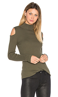 Mock neck cold shoulder sweater - 1. STATE