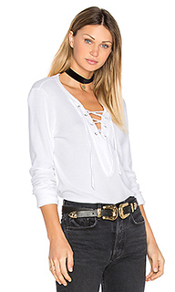 Long sleeve tie neck top - Michael Stars