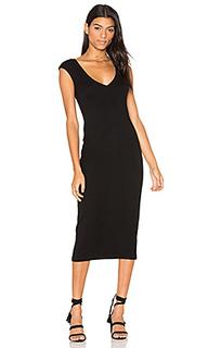 Платье с вырезом v - James Perse