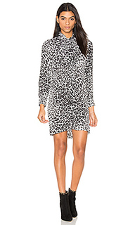 Leema leopard print tie neck dress - Equipment