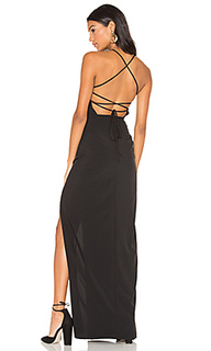 Cross back square neck maxi dress - Donna Mizani