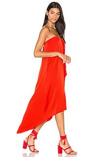 Платье с асимметричным подолом livvy - BCBGMAXAZRIA