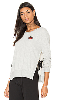 Side slide crew neck lip sweatshirt - Pam & Gela
