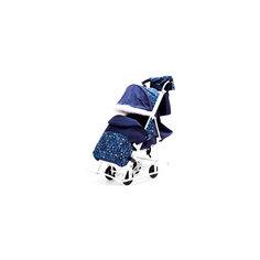 Санки-коляска Зимняя Сказка 5М Люкс, белая рама, ABC Academy, синий/зоопарк