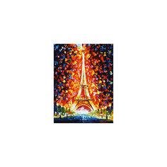 """Живопись на холсте """"Париж - огни Эйфелевой башни"""" 30*40 см Белоснежка"""