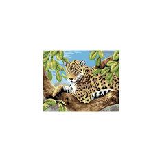 "Живопись на холсте 30*40 см ""Леопард в лесу"" Белоснежка"