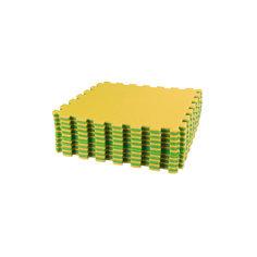 Коврик спортивный (1270х1270), Alternativa, салатовый-желтый