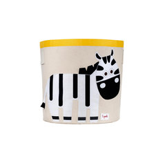 Корзина для хранения Зебра (Black&White Zebra), 3 Sprouts