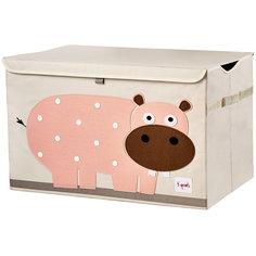 Сундук для хранения игрушек Гиппопотам (Pink Hippo SPR907), 3 Sprouts