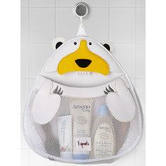 Органайзер для ванной Белый мишка (White Polar bear), 3 Sprouts
