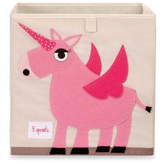 Коробка для хранения Единорог (Pink Unicorn), 3 Sprouts