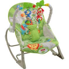 """Портативное кресло-качалка """"Веселые обезьянки из тропического леса"""", Fisher-price Mattel"""