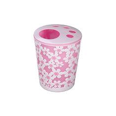 """Подставка """"Дольче Вита"""" для зуб. щеток, Alternativa, розовый-белый"""