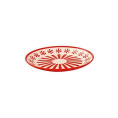 """Тарелка """"Валенсия"""", Alternativa, красный-белый"""