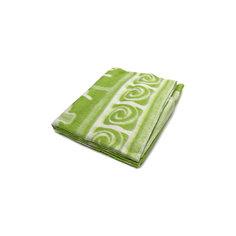 Байковое одеяло 110х118 см. (жаккард), Топотушки, фисташковый Ермолино