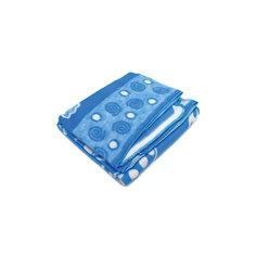 Байковое одеяло 100х118 см., Топотушки, голубой Ермолино