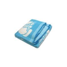 Байковое одеяло 110х118 см. (жаккард), Топотушки, голубой Ермолино