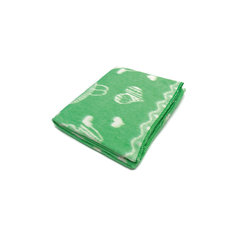 Байковое одеяло 110х118 см. (жаккард), Топотушки, зеленый Ермолино