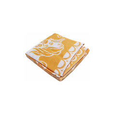 Байковое одеяло х/б 140х100 см., Топотушки, жёлтый Ермолино