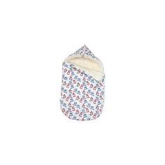 Зимний конверт Снеговик, Топотушки, голубой
