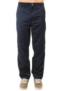 Штаны прямые Carhartt Wip Simple Pant Navy Rinsed