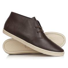 Кеды кроссовки высокие Fred Perry Byron Mid Leather Brown