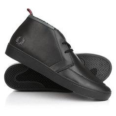 Кеды кроссовки утепленные Fred Perry Shields Mid Leather/Shearling Lining Black