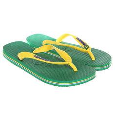 Вьетнамки Havaianas Brasil Logo Green/Yellow