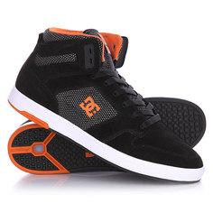 Кеды кроссовки высокие DC Nyjah High Se Black/Orange
