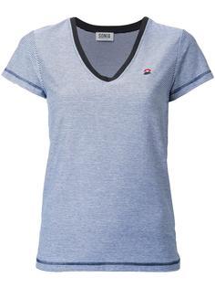 striped V-neck T-shirt Sonia By Sonia Rykiel