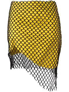 mesh overlay asymmetric skirt Marques'almeida
