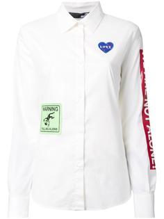 рубашка с комбинированным принтом Love Moschino