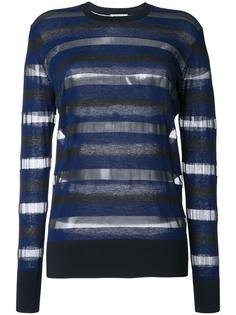 sheer striped longsleeved T-shirt Sonia By Sonia Rykiel