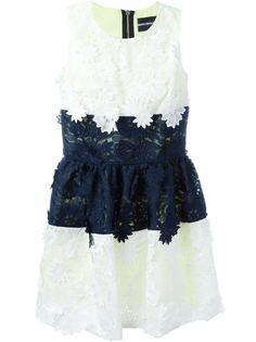 пышное платье с цветочной вышивкой  Marco Bologna