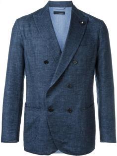 тканый двубортный пиджак Lardini