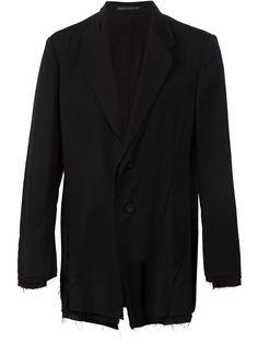 пиджак с необработанной отделкой Yohji Yamamoto