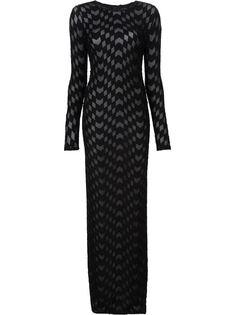 длинное платье с геометрическим узором Gareth Pugh
